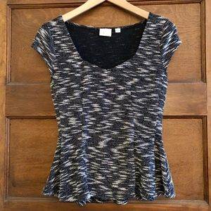 Anthropologie 9-H15 STCL Peplum Top Size XS